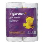 Gwoon Keukenpapier 3-lgs decor 2 rol